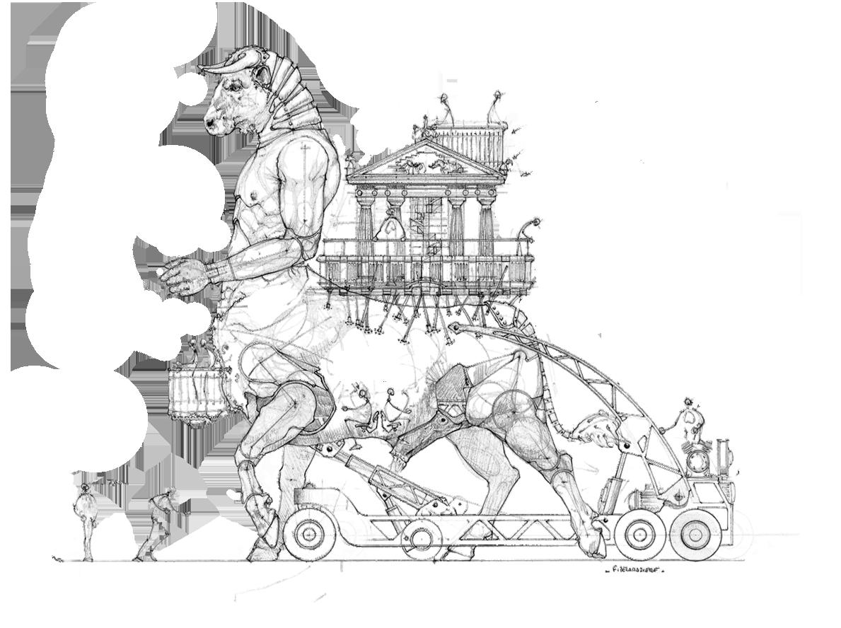The Minotaur Halle De La Machine